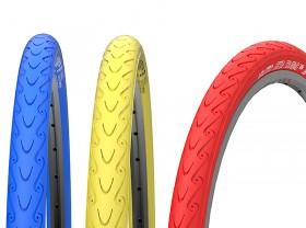 타이어(700*28C, 벨로또 세티아투어링, 철심, 백색/청색/노랑)