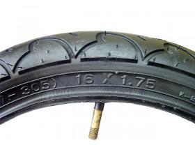 타야쥬브(16*1.75, AV 48L 켄다K909, 흑색)
