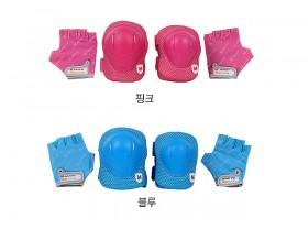 보호대(아동용 롤리펫P3, 핑크/블루,M/S사이즈)