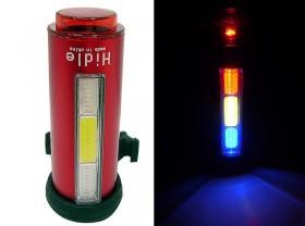 깜박등(COB LED 3코브+1LED, 원형후미등, 7기능, 충전식)