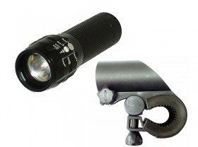 LED라이트(3W LED, LC-S105#, XPE LED, 줌, 흑색)