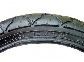 타이어(16*1.75, 켄다K909, 흑색)