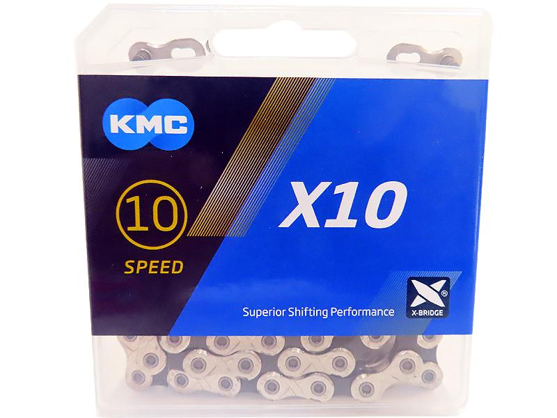 첸(10단, KMC, X10, 실버/블랙)