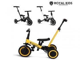 아동용자전거(로얄키즈 쓰리인원, 유아용, 3륜/2륜 변신, 흑색/백색/엘로우)