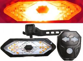 깜박등(COB LED, FY-1820, 6기능, 방향지시, 무선조정, USB충전)